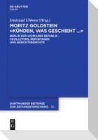 """Moritz Goldstein """"Künden, was geschieht..."""""""