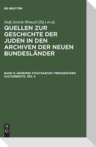 Geheimes Staatsarchiv Preußischer Kulturbesitz, Teil II