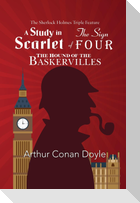 The Sherlock Holmes Triple Feature - A Study in Scarlet, The Sign of Four, and The Hound of the Baskervilles