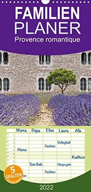 Joachim G. Pinkawa, Jo. Pinx. Provence romantique - Familienplaner hoch (Wandkalender 2022 , 21 cm x 45 cm, hoch) - malerische Fotografien aus der Provence (Monatskalender, 14 Seiten ). Calvendo, 2021.