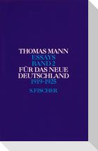 Für das neue Deutschland 1919 - 1925