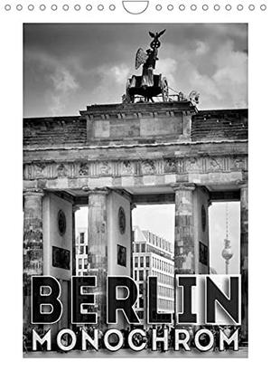 Viola, Melanie. BERLIN in Monochrom (Wandkalender 2022 DIN A4 hoch) - Urbane Ansichten in schwarz-weiß (Monatskalender, 14 Seiten ). Calvendo, 2021.