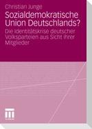 Sozialdemokratische Union Deutschlands?