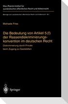 Die Bedeutung von Artikel 5(f) der Rassendiskriminierungskonvention im deutschen Recht