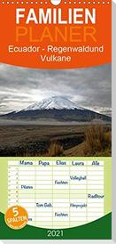 Ecuador - Regenwald und Vulkane - Familienplaner hoch (Wandkalender 2021 , 21 cm x 45 cm, hoch)