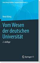 Vom Wesen der deutschen Universität