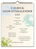 C.H. Beck Gedichtekalender 2022