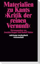 Materialien zu Kants »Kritik der reinen Vernunft«