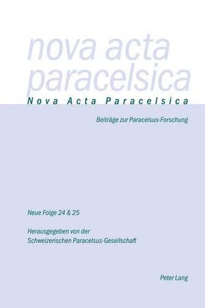 Holenstein Weidmann, Pia (Hrsg.). Nova Acta Parace