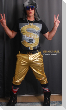 Sir Michael gold  hustle Bling  portrait  Blank Creative JournalNote Book