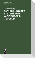 Enthüllung des Systems der Weltbürger-Republik