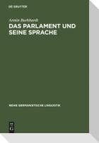 Das Parlament und seine Sprache