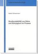 Strukturstabilität von Rahm und Rührjoghurt im Prozess