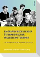 Biografien bedeutender österreichischer Wissenschafterinnen