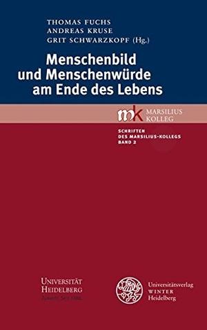 Thomas Fuchs / Andreas Kruse / Grit Schwarzkopf. Menschenbild und Menschenwürde am Ende des Lebens. Universitätsverlag Winter GmbH Heidelberg, 2012.