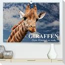 Giraffen. Dem Himmel so nah (Premium, hochwertiger DIN A2 Wandkalender 2022, Kunstdruck in Hochglanz)