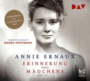 Annie Ernaux / Sonja Finck / Maren Kroymann. Erinnerung eines Mädchens - Ungekürzte Lesung mit Maren Kroymann (4 CDs). Der Audio Verlag, 2018.