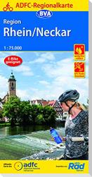 ADFC-Regionalkarte Region Rhein/Neckar, 1:75.000, reiß- und wetterfest, GPS-Tracks Download