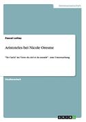 Aristoteles bei Nicole Oresme