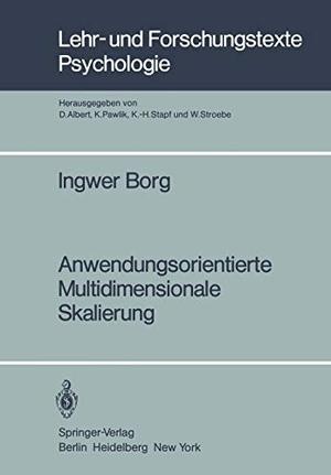 Borg, I.. Anwendungsorientierte Multidimensionale