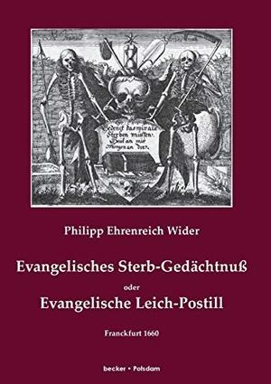 Wider, Philipp Ehrenreich. Evangelisches Sterb-Ged