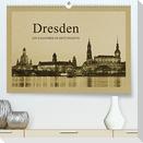 Dresden - Ein Kalender im Zeitungsstil (Premium, hochwertiger DIN A2 Wandkalender 2022, Kunstdruck in Hochglanz)