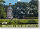 The Great Tiergarten Park Berlin - Monuments of poets and composers (Wall Calendar 2022 DIN A4 Landscape)