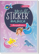 Metallic-Sticker Malbuch. Meerjungfrauen