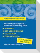 Abi-Paket Baden-Württemberg 2023 Deutsch Leistungskurs - Woyzeck, Der Verschollene, Felix Krull, Corpus Delicti