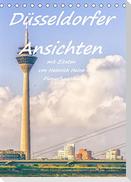 Düsseldorfer Ansichten mit Zitaten von Heinrich Heine - Planerfunktion (Tischkalender 2022 DIN A5 hoch)
