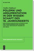 Polemik und Argumentation in der Wissenschaft des 19. Jahrhunderts