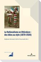 Le Nationalisme en littérature
