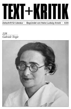 Gabriele Tergit. Edition Text + Kritik, 2020.
