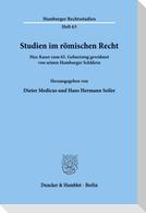Studien im römischen Recht.