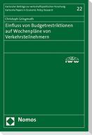 Einfluss von Budgetrestriktionen auf Wochenpläne von Verkehrsteilnehmern