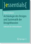 Archäologie des Designs und Systematik der Designtheorien