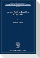 Armer Adel in Preußen 1770-1830.