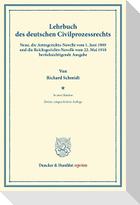 Lehrbuch des deutschen Zivilprozessrechts.