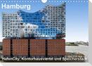 Hamburg. HafenCity, Kontorhausviertel und Speicherstadt. (Wandkalender 2021 DIN A4 quer)