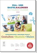 Mal- und Bastelkalender 2022 mit Platz für Notizen - weiß - Do it yourself calendar A4