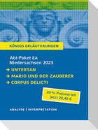 Abi-Paket EA Niedersachsen 2023 - Untertan, Mario und der Zauberer, Corpus Delicti