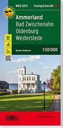 Ammerland, Bad Zwischenahn, Oldenburg, Westerstede, Wander + Radkarte 1:50.000
