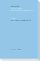 """Kritische Robert-Walser-Ausgabe (KWA) / Drucke in der """"Neuen Rundschau"""""""