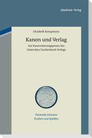Kanon und Verlag
