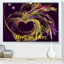 Herz an Herz (Premium, hochwertiger DIN A2 Wandkalender 2021, Kunstdruck in Hochglanz)