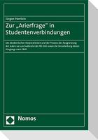 """Zur """"Arierfrage"""" in Studentenverbindungen"""