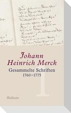 Gesammelte Schriften 1760-1775 - Historisch-kritische und kommentierte Ausgabe