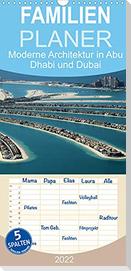 Moderne Architektur in Abu Dhabi und Dubai - Familienplaner hoch (Wandkalender 2022 , 21 cm x 45 cm, hoch)