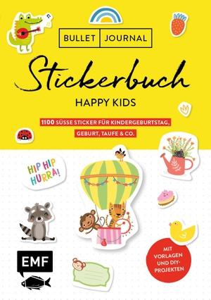 Bullet Journal - Stickerbuch Happy Kids: 700 süße Sticker für Kindergeburtstag, Geburt, Taufe & Co. - Zum Dekorieren und Basteln - Mit Vorlagen und DIY-Projekten - Alle Aufkleber mit beschreibbarer Oberfläche. Edition Michael Fischer, 2021.