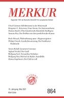 MERKUR Gegründet 1947 als Deutsche Zeitschrift für europäisches Denken - 2021-05